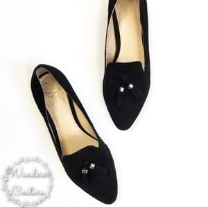 Vince Camuto Suede Pointed Toe Oxford Loafers